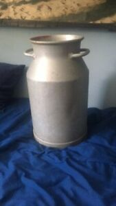 Rare And Vintage Military Stainless Steel 5 Gallon Milk Can