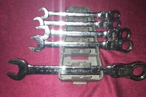 Gearwrench 5pc Flex Head Combination Ratcheting Wrench Set