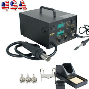 Usa Supply Hot Air Iron Gun Rework Welding Tool Welding Solder Machine 110v 540w