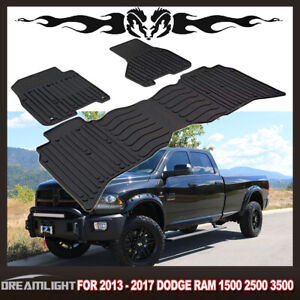 Car Floor Mats For 2009 2017 Dodge Ram 1500 2500 Rubber 2 Front Pieces