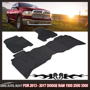 For 2009 2017 Dodge Ram 1500 2500 Tpe Rubber Slush Mats Floor Mats Front Rear