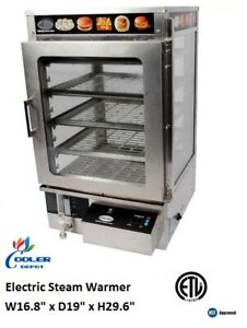 New Commercial Electric Steam Warmer Food Cabinet Display Merchandiser 120v Nsf