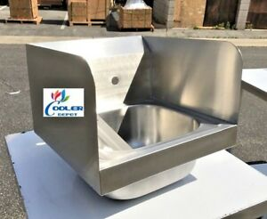 New 15 Stainless Steel Hand Sink W Splash Guard Kitchen Restaurant Bar Nsf