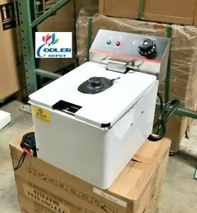 New 8l Electric Deep Fryer Counter Top Model Single Basket W Cover 110v
