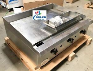 New 36 Toastmaster Griddle gas propane Thermostatic Grill Model Cd tg36 Nsf