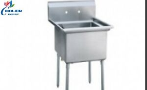 New 18 Stainless Steel Prep Sink Commercial Kitchen Restaurant Utility Mop Nsf