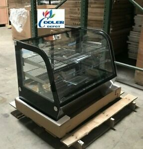New 35 Refrigerator Bakery Case Curved Glass Display nsf Restaurant show Case
