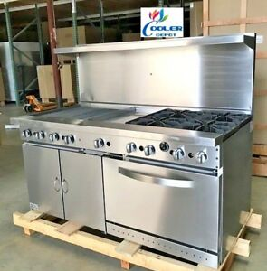 New 60 Single Oven Range Stove Top Griddle Broiler Hot Plate nsf Usa Made