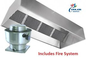 New 14 Ft Range Hood Exhaust Filter Kitchen Restaurant Commercial W Fire System
