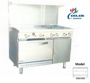 New 48 Oven Range Flat Griddle Stove Top Commercial Kitchen Made In Usa Nsf