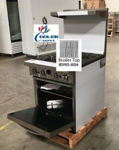 New 24 Oven Range Broiler Stove Top Commercial Kitchen Made In Usa Nsf