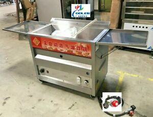 New 40l Propane Deep Fryer W Thermostat Or Natural Gas Wide Bin Basket