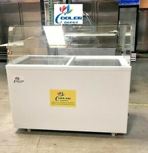 Nsf 53 Inch Gelato Ice Cream Pan Freezer Display Sd400b dipping Cabinet Case