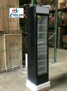 New Glass Door Freezer Merchandiser Slim Narrow Design Compact Display Nsf