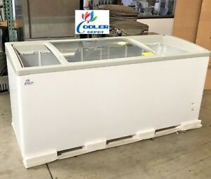 New 72 Ice Cream Glass Dipping Freezer Chest Showcase Display Commercial Nsf
