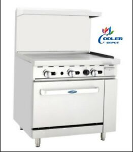 New 36 Commercial Gas Oven Range W Griddle Grill Stove Top Nsf