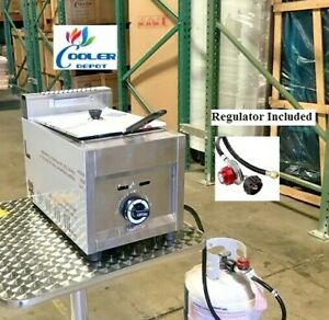 New Single Basket Commercial Deep Fryer Model Fy19 propane Gas Use Counter Top