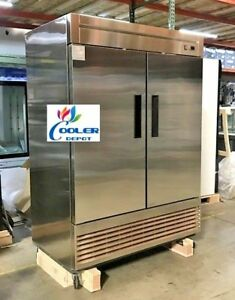 Coolerdepot Kf 49b Commercial Double Two Door Reach In Freezer Nsf Approved