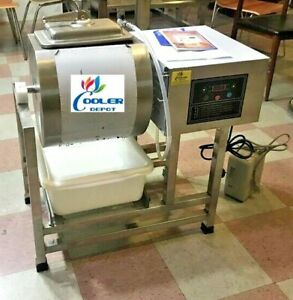 New Vacuum Pump Meat Seafood Tumbler Marinator Mixer Machine S s Commercial Use