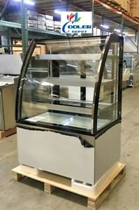 New 36 Curved Glass Showcase Refrigerator Cooler Case Display Commercial Nsf