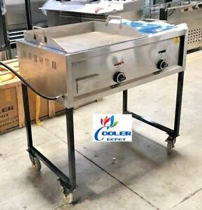 New 36 Taco Cart Griddle Steam Table Wheels Propane Stratus Plancha