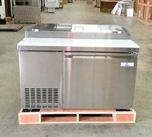New 50 Commercial Pizza Prep Table Refrigerator Cooler Depot Model Picl1 Nsf