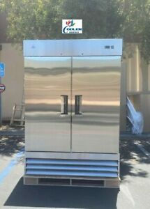 New Hd Commercial Reach in Refrigerator Two Door Stainless Nsf Model Kr 49b
