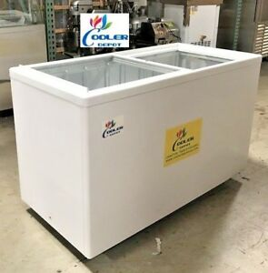 New 53 X 26 X 34 Glass Top Chest Freezer gelato Ice Cream Dipping Cabinet Nsf