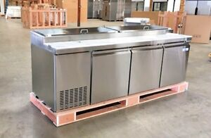 New 93 Commercial Pizza Prep Table Refrigerator Cooler Depot Model Picl3 hc Nsf