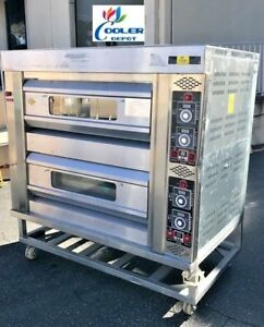 New Commercial Double Pizza Stone Oven Pizzeria Appetizer Cooker Gas Propane