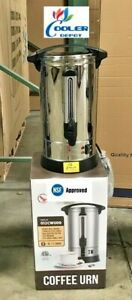 New 90 Cup Electric Coffee Maker Urn Machine Stainless Brewer Cafe Office Nsf