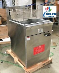 New 70 Lbs Commercial Deep Fryer Model Cd f70 Stainless Steel Restaurant Nsf