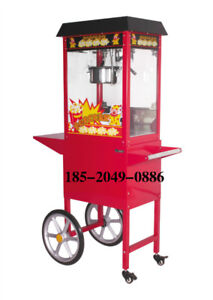 New Classic Red Popcorn Maker Machine Cart Nsf Commercial Party Rental