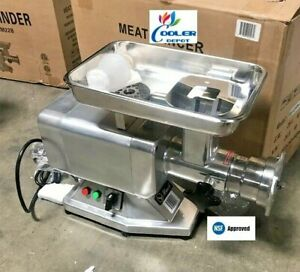 Nsf Commercial Electric Meat Grinder Stainless Steel 1 5hp Counter Top Etl