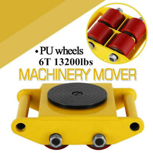 Heavy Duty Machine Dolly Skate Roller Machinery Mover 6t 13200 Lbs Rotation Cap