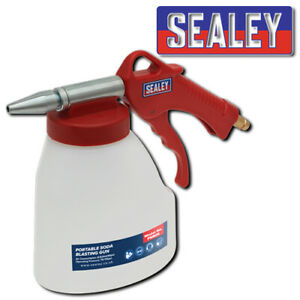 Sealey Psb05 Portable Soda Blasting Gun Paint Strip Grease Cleaning Compressor
