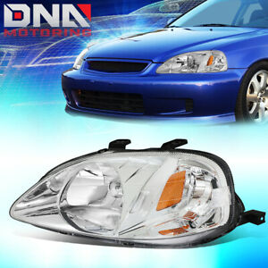 For 1999 2000 Honda Civic Factory Style Driving Headlight Lamp Assembly Left