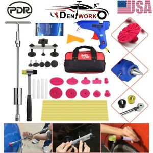 37pcs Pdr Tools Kit Car Body Dent Repair Painless Hail Removal Slide Hammer Set