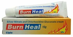 Silver Nitrate And Chlorhexidine Gluconate Cream Burn Heal 15 Gm