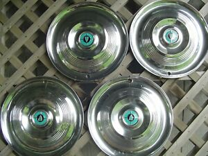 1955 55 Chrysler Windsor Hubcaps Wheel Covers Antique Vintage Classic Center Cap