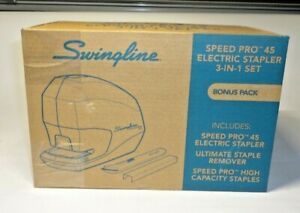 Swingline 42141 Speed Pro 45 Electric Staplers Value Pack 45 sheet Capacity Bl