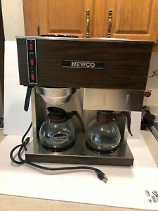 Newco Rd3 Coffee 3 Warmer Brewer Stainless Steel Pour Over Vintage Tested