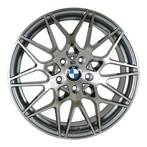 4 Wheels 18 Inch Gunmetal Rims Fits Bmw 3 Series 2 Door e46 2006