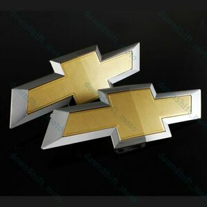 Set For 2015 2018 Chevy Chevrolet Colorado Front Grill Tailgate Bowtie Emblem