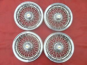 Vintage Nos 1985 90 Chevy Caprice Wire Spinner Hubcaps Wheel Covers