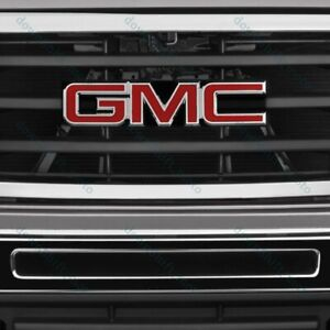 Red Front Grill Grille Emblem Badge For 2008 2010 Gmc Sierra 1500 2500hd 3500hd