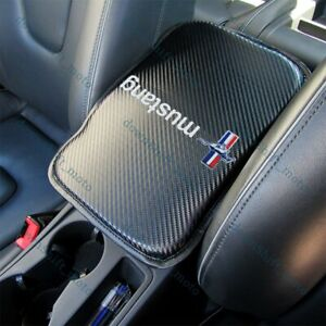 For Ford Mustang Carbon Fiber Car Center Console Armrest Cushion Mat Pad Cover