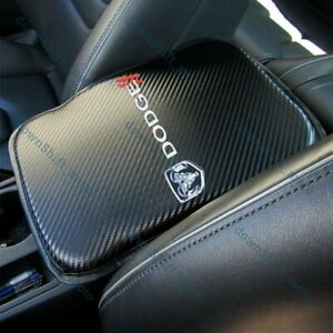 For Dodge Carbon Fiber Car Center Console Armrest Cushion Pad Cover Mat New 1pcs