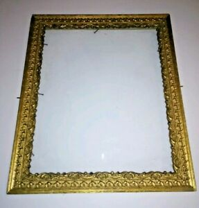 Antique Wood Gesso Gold Picture Frame Victorian Rectangular 8x10 Rococo Baroque