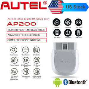 Autel Ap200 Obd2 Bluetooth Scanner Diagnostic Tool Full Systems As Mk808 Ms906